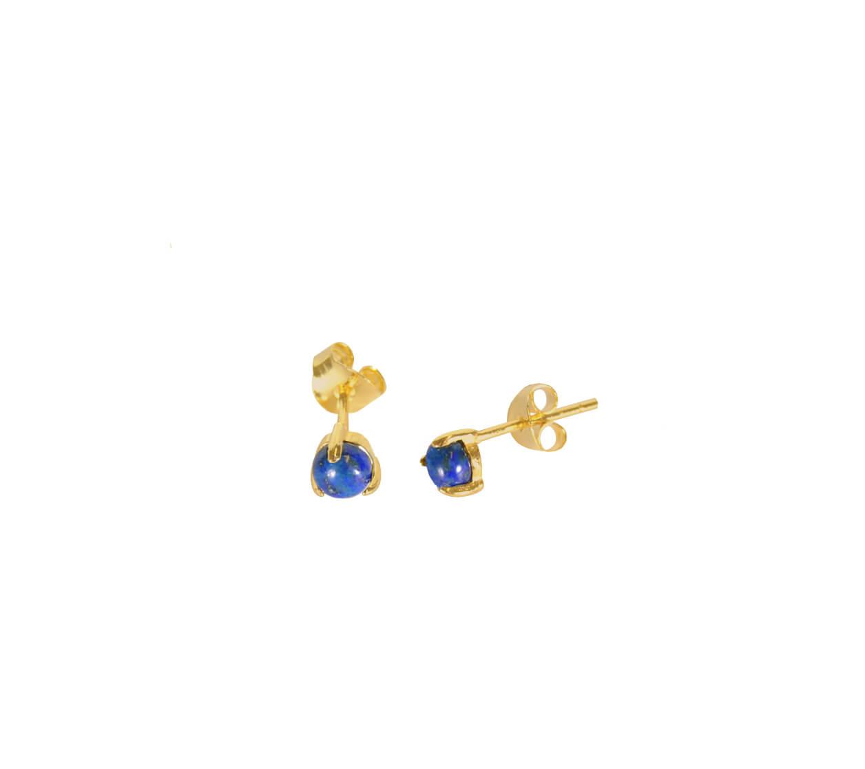 Mas Jewelz Earstuds Lapis Lazuli Gold