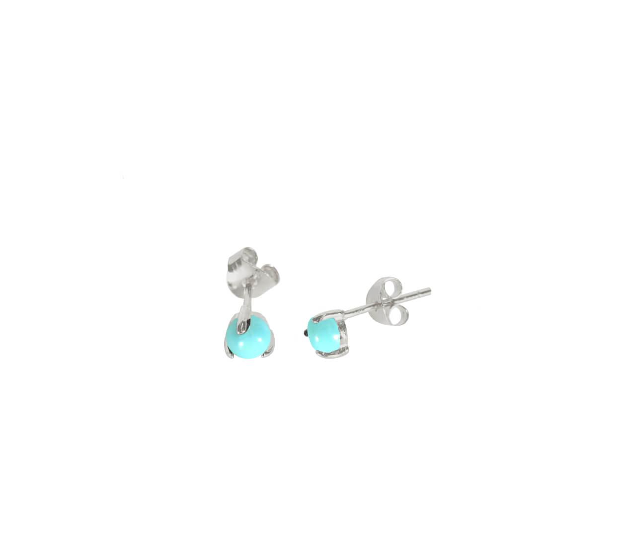 Mas Jewelz Earstuds Turquoise Silver