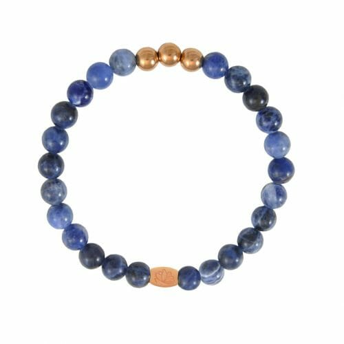 Mas Jewelz 6 mm Sodalite Rose gold