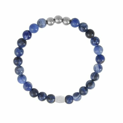 Mas Jewelz 6 mm Sodalite Silver