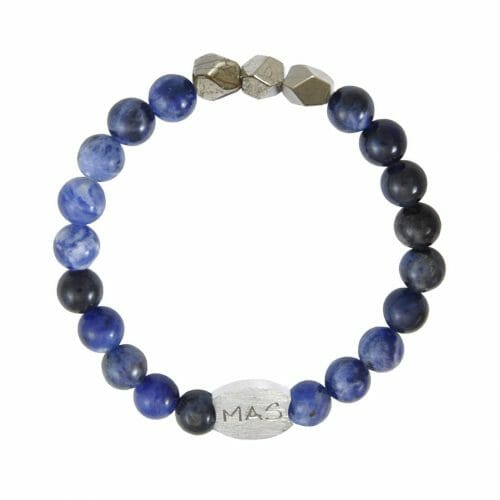Mas Jewelz Men 8 mm Sodalite Model 2