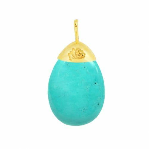 Mas Jewelz pendant Turquoise Gold