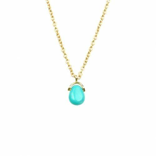 Mas Jewelz necklace Bail Turquoise Gold