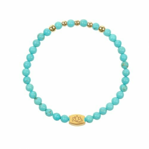 Mas Jewelz 4 mm Turquoise Model 1 Gold