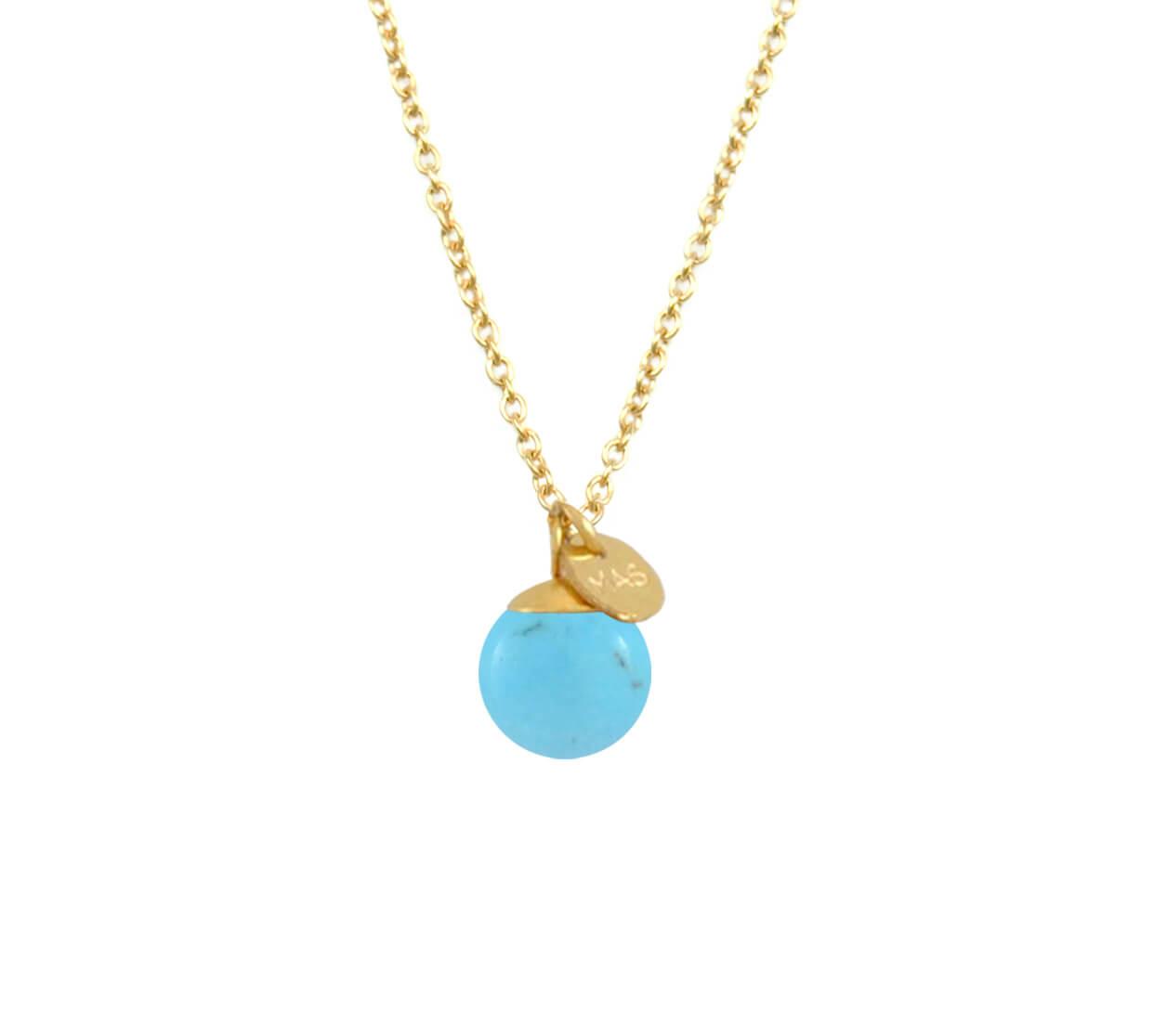 Mas Jewelz necklace Classic Turquoise Gold