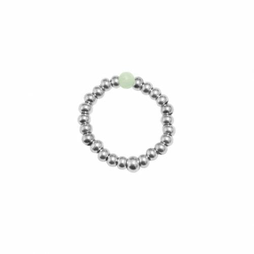 Mas Jewelz Ring 3 mm Amazonite Model 2 Silver