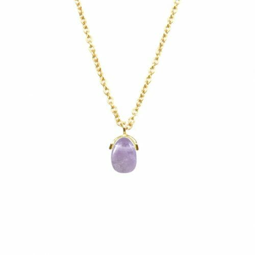 Mas Jewelz necklace Bail Light Amethyst Gold