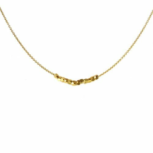 Mas Jewelz necklace with Nuggets Gold
