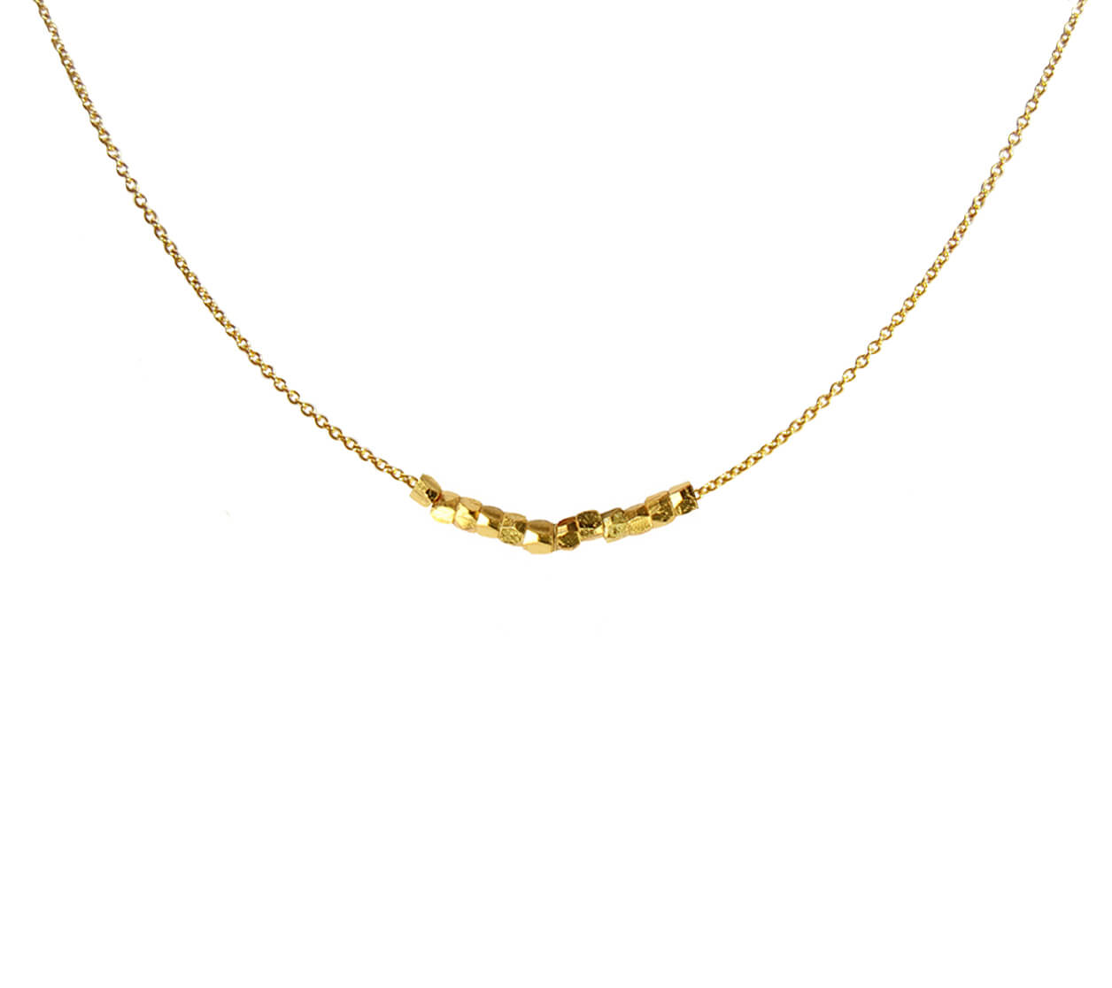 Mas Jewelz collier Facet Blackstone om 1 cm Goud