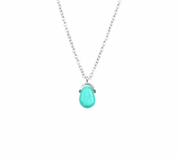 Mas Jewelz necklace Bail Turquoise Silver