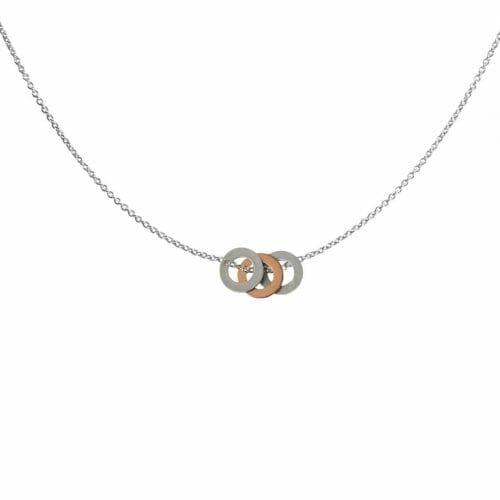 Mas Jewelz necklace rings bicolor Silver en Rose gold