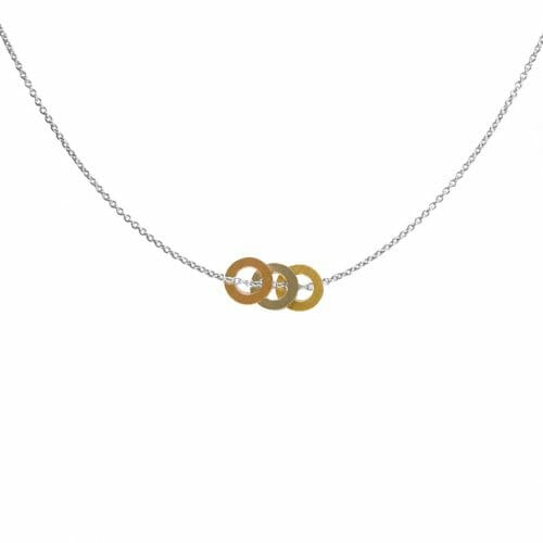 Mas Jewelz necklace rings Silver, Gold en Rose gold Mat