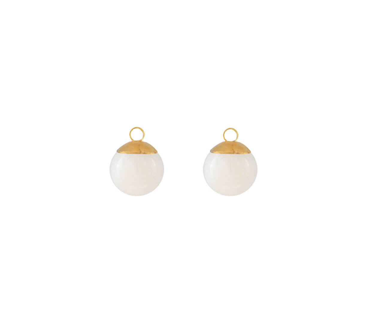 Mas Jewelz earring Classic Mother of Pearl Gold
