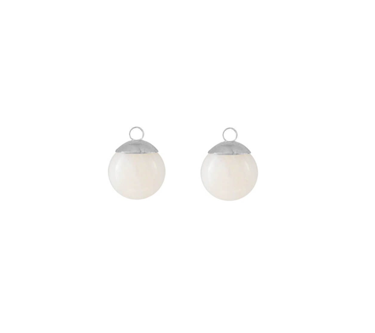 Mas Jewelz earring Classic Mother of Pearl Silver