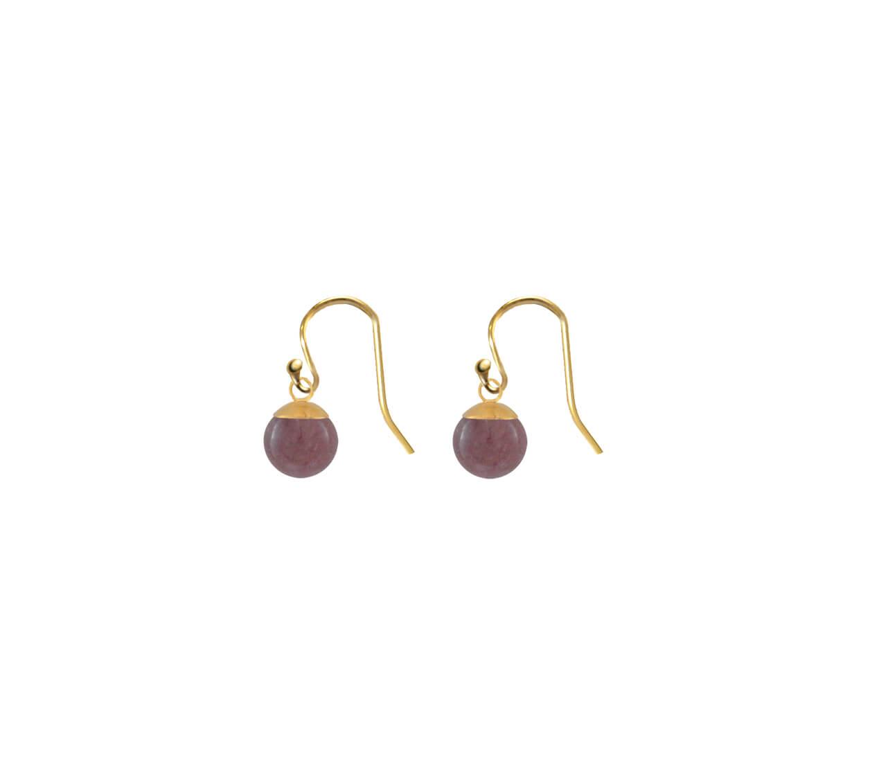 Mas Jewelz earring Classic Purple Aventurine Gold