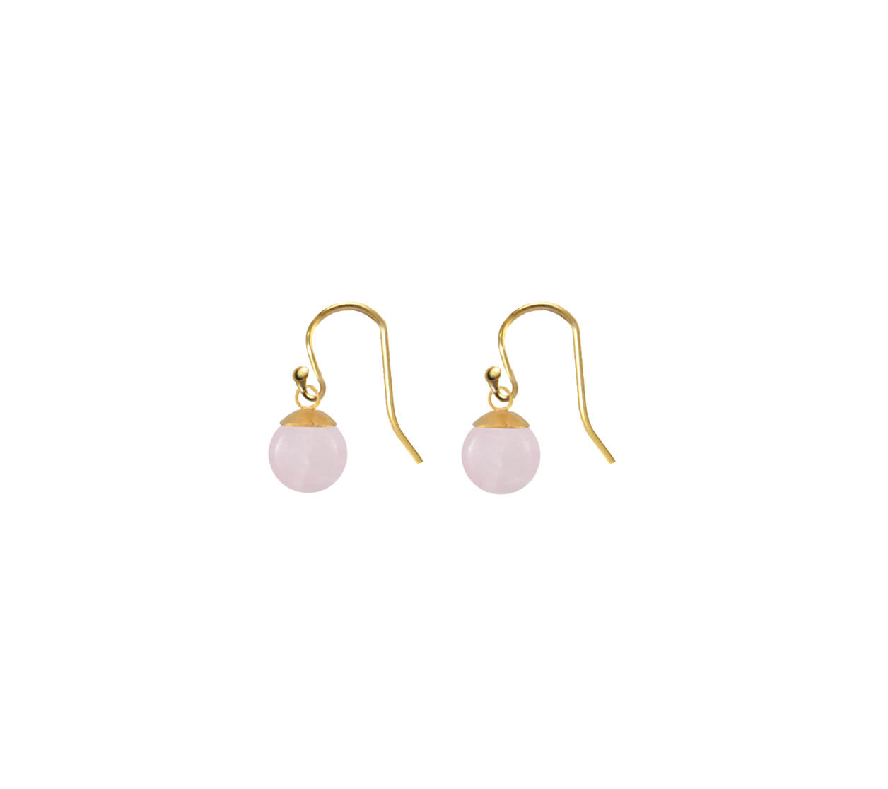 Mas Jewelz earring Classic Rose Quartz Gold