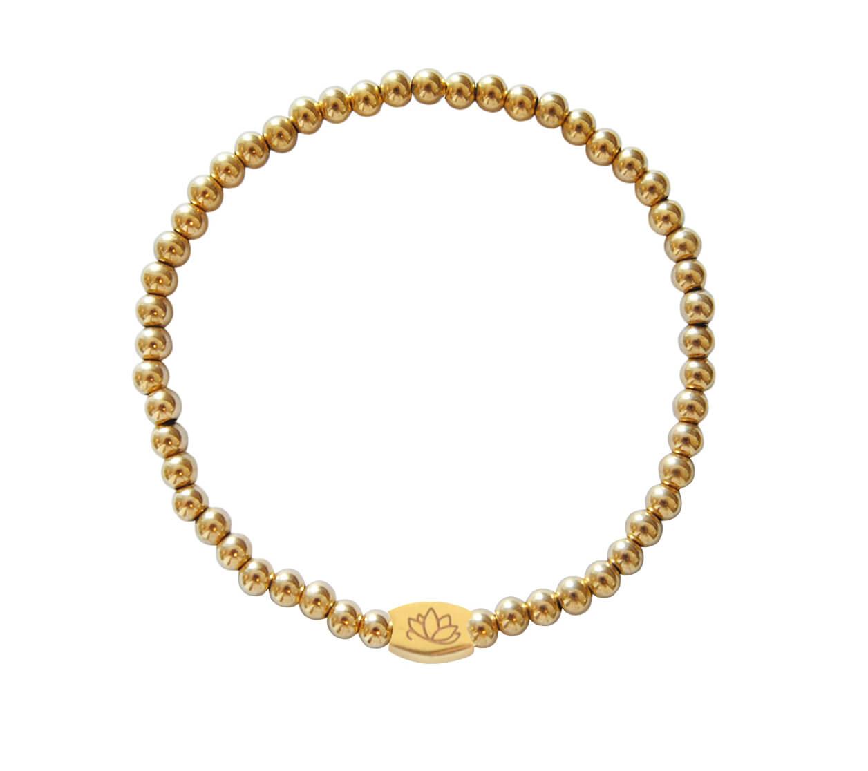 Mas Jewelz bracelet plain 4 mm Gold