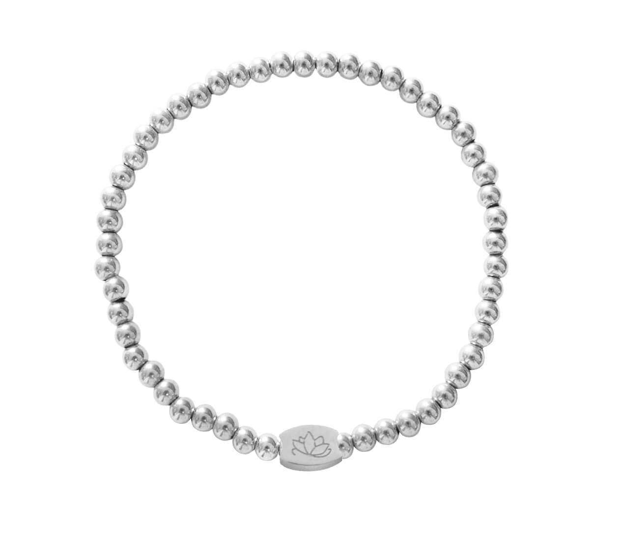 Mas Jewelz bracelet plain 4 mm Silver