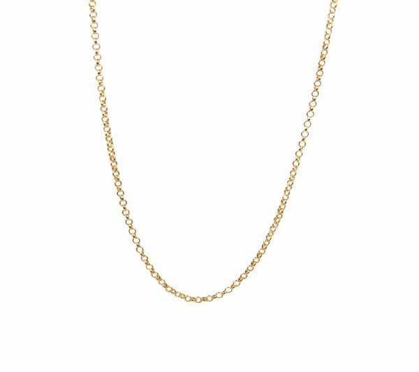 Mas Jewelz necklace 1,2 mm plain 42-45 cm Gold