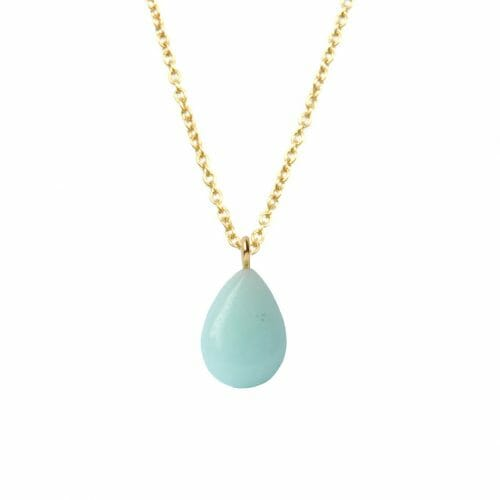 Mas Jewelz necklace long with Pendant Amazonite Gold