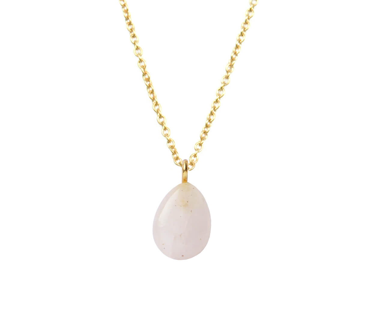 Mas Jewelz necklace long with Pendant Rose Quartz Gold