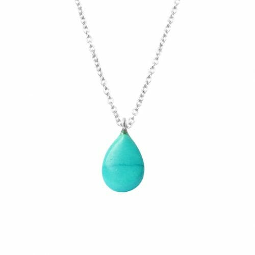 Mas Jewelz necklace long with Pendant Turquoise Silver