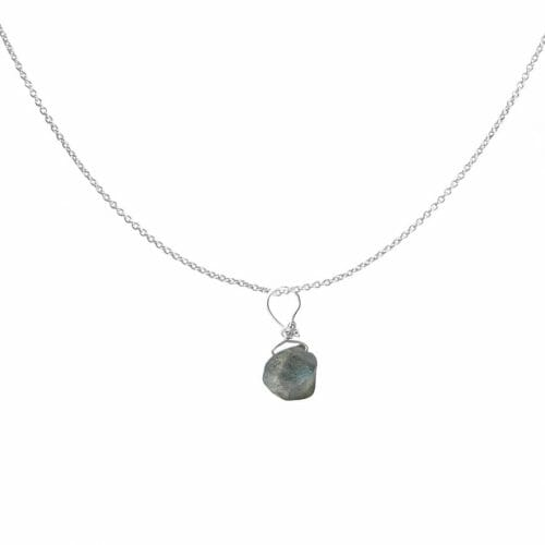 Mas Jewelz necklace with Labradorite Silver