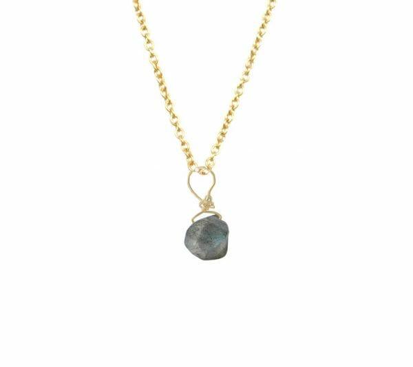Mas Jewelz necklace with Labradorite Gold