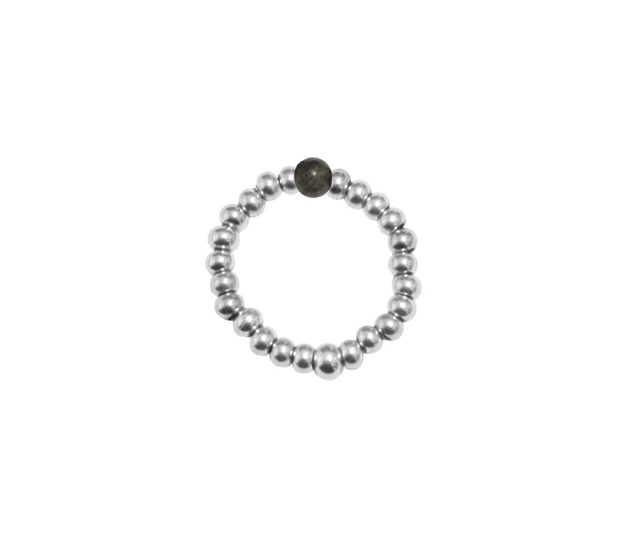 Mas Jewelz Ring 3 mm Larvikite Model 2 Silver