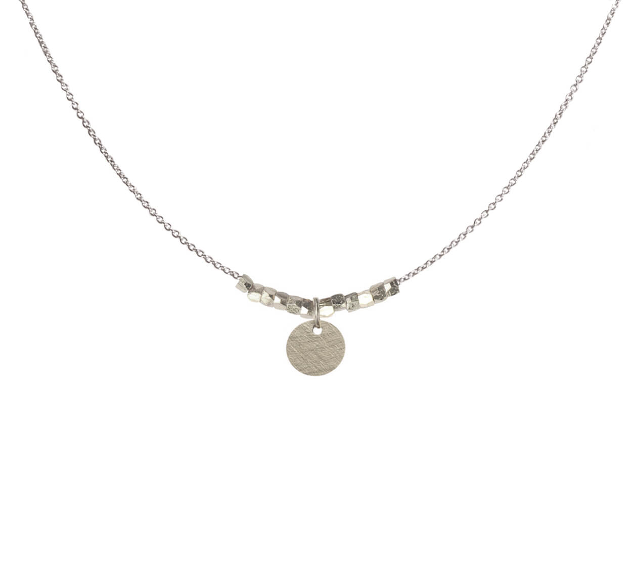 Mas Jewelz necklace with Nuggets and Coin Silver