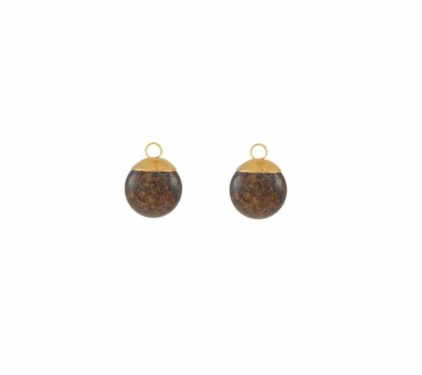 Mas Jewelz Charms 8 mm Bronzite Gold