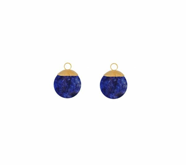 Mas Jewelz Charms 8 mm Lapis Lazuli Gold