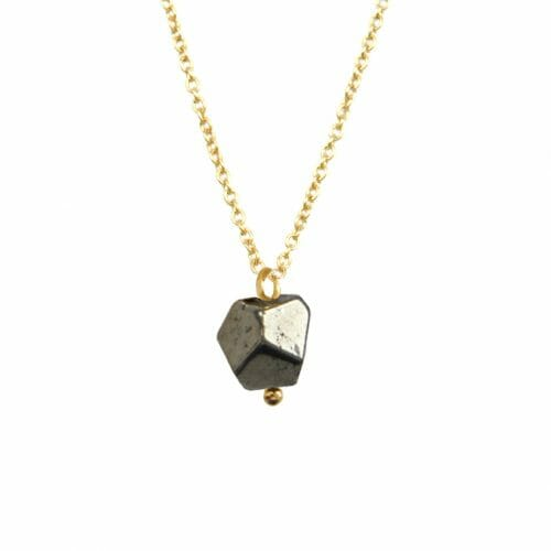 Mas Jewelz necklace with Pyrite  Gold