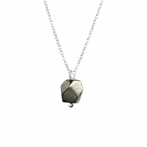 Mas Jewelz necklace with Pyrite Silver