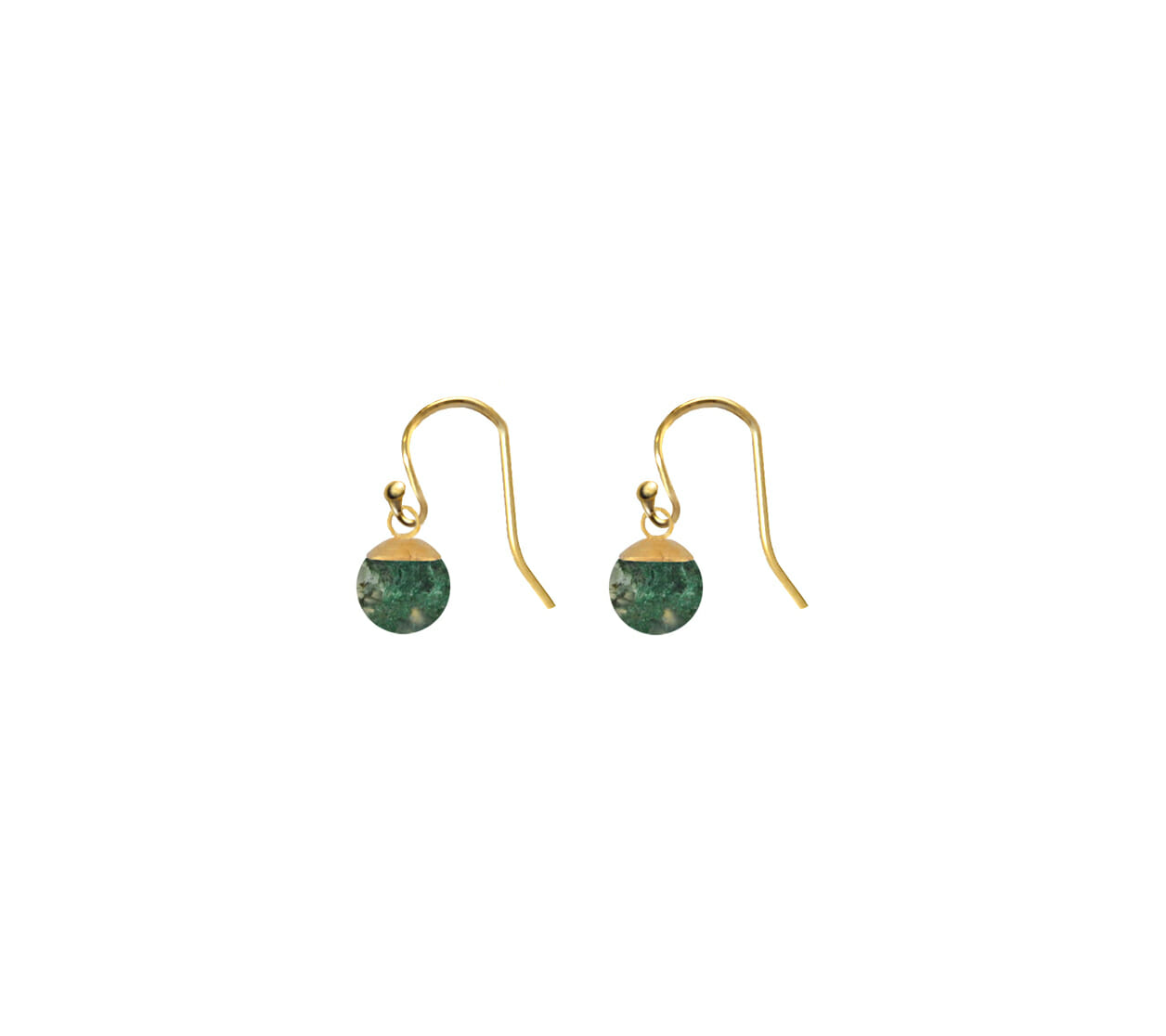 Mas Jewelz Earstuds Blackstone  Gold
