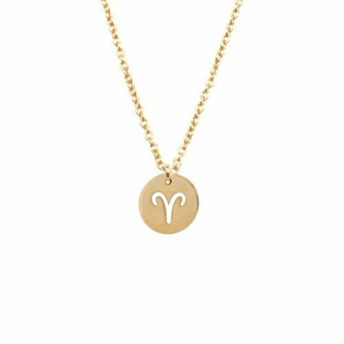 Mas Jewelz zodiac sign necklace Aries Gold