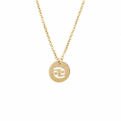 Mas Jewelz zodiac sign necklace Cancer Gold