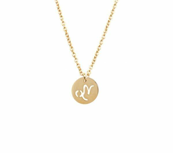 Mas Jewelz zodiac sign necklace Capricorn Gold