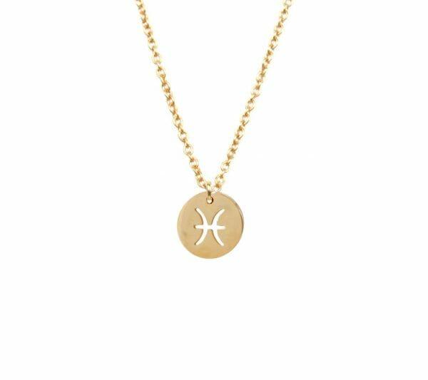 Mas Jewelz zodiac sign necklace Pisces Gold