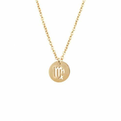 Mas Jewelz zodiac sign necklace Virgo Gold
