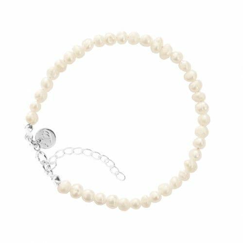 Mas Jewelz Bracelet 4 mm Pearl Silver