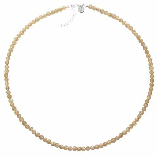 Mas Jewelz necklace 4 mm Labradorite Silver